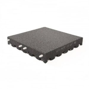 legepladsflise 45 mm 500x500 mm sort