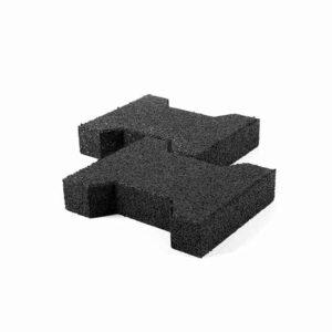 gummiflise 43 mm keystone