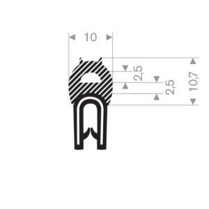 klemprofil m. d-celleprofil 1-3 mm