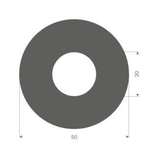 Celle rundprofil (Ø50/Ø20)