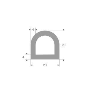 D-fender (Grå) 23x23 mm
