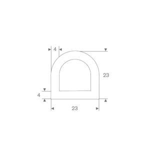 D-fender (Hvid) 23x23 mm