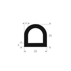 D-fender (Sort) 23x23 mm