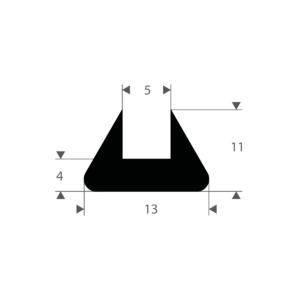 u-profil fast gummi 5 mm